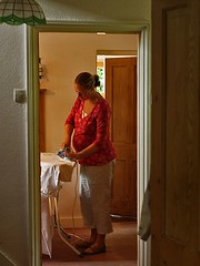 Girl with Pearl Earring  ----  and Iron.      Vermeer-ish? (algo) Tags: photography interestingness earring pregnant explore granddaughter vermeer algo soe girlwithpearlearring blueribbonwinner explore33