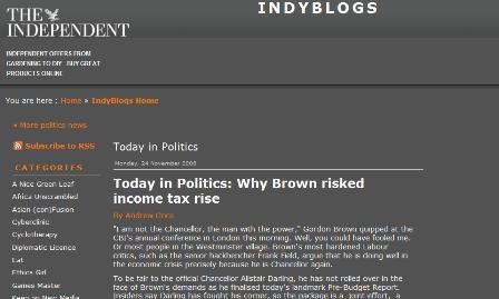 Old Indy blogs