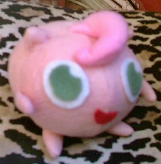 felt jiggleypuff.jpg (tallulahtrifles) Tags: toy sewing craft felt plushie pokemon jiggleypuff