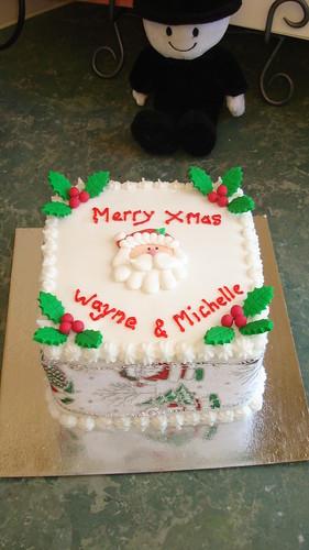 Obra-prima do Mossy christmas cake cabeça de Santa