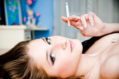 lady with cigarette (innees) Tags: hot color sexy girl beauty face female hair femme erotica lips sensual elegant aneta portatrait agnieszkazaleska agnieszkakrajewskazaleska