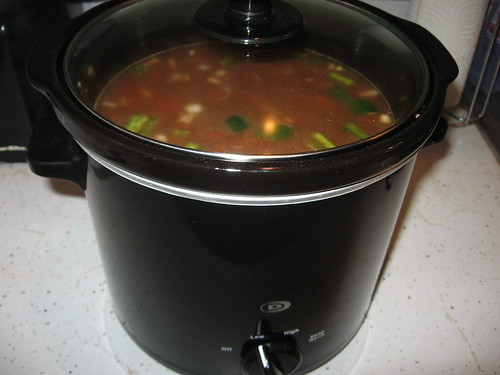 Cooking in the Crock pot.