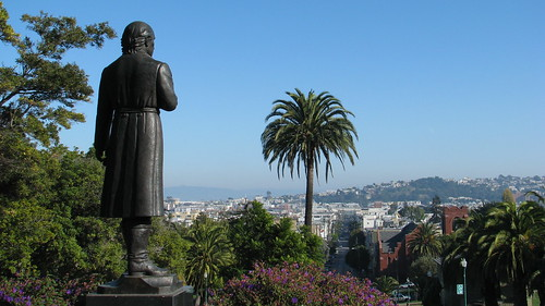 Miguel Hidalgo Looks Over The Mission