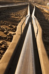 Converging Paths (Todd Hakala) Tags: train switch track steel rail railbed pointofrocks