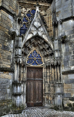 Orleans Cathedral Door (andyklink) Tags: door france church orleans cathedral hdr