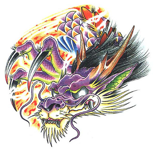 Tiger nose dragon. Dragon tattoo