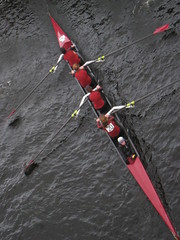 Boat (historygradguy (jobhunting)) Tags: red people sports water boston race river ma boats person sitting candid massachusetts charlesriver newengland down diagonal crew sit rowing athletes mass seated headofthecharles oars rowers paddles bostonist