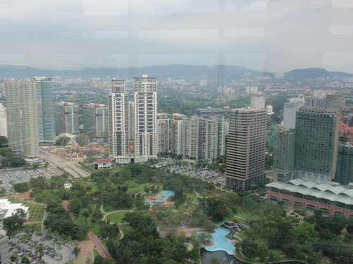 View of KL from the sky bridge