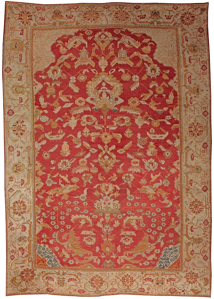 Antique Oushak Turkish Carpets #41688 by Nazmiyal Collection