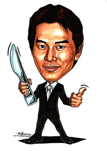 caricature of Qi Yu Wu  戚玉武- A3