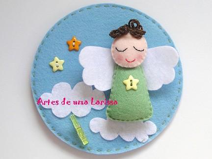 Anjinho e sua nuvem by Artes de uma Larissa