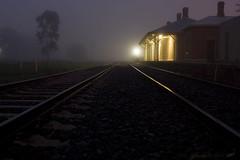 Bomen Train Station_0013 (_Scorps_) Tags: longexposure winter station fog night train canon bomen moody railway australia nsw 62 waggawagga 450d regionwide copyrightpaulwutzke abcopen:project=winter