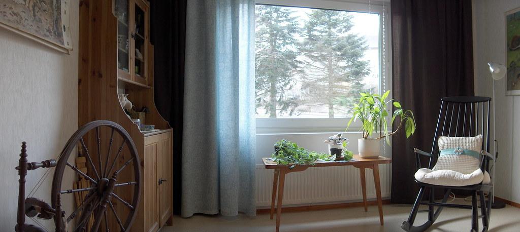 living room, window