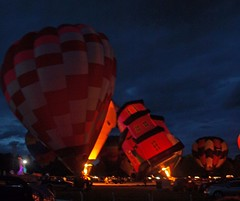 Night Glow (anakiwa_forever) Tags: light newzealand flame hotairballoon masterton flickrmeetup balloonfestival wairarapa nightglow utata:project=nocturnal2 solwayshowgrounds