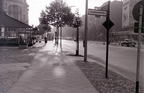 Early morning Kudamm, West Berlin, 27 August 1962