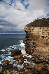 Tasman Peninsula (DarioM_72) Tags: trees cliff parco travelling verde green tourism water rain clouds flow waterfall nationalpark rocks waves australia vegetation tasmania acqua cascate nazionale mtfield tasmanpeninsula d80 dariomilano
