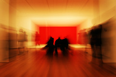 Ghosts in MoMA (& the city) (alicudi) Tags: nyc usa ny art museum arte manhattan moma museumofmodernart americans museo uau barnettnewman zooming americani aplusphoto mariateresadellaquila