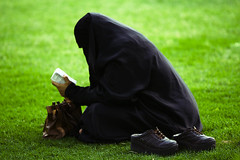 (Hussain Khorsheed) Tags: woman women muslim islam praying poor hijab modesty niqab mohammad begging  allah asking