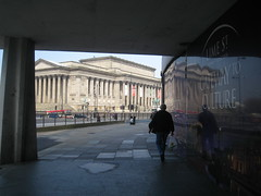 Gateway to Culture, Lime Street, Liverpool (new folder) Tags: reflection bus architecture liverpool advertising lunchtime gateway stgeorgeshall limeststation limest capitalofculture liverpool08 williamearle gatewaytoculture