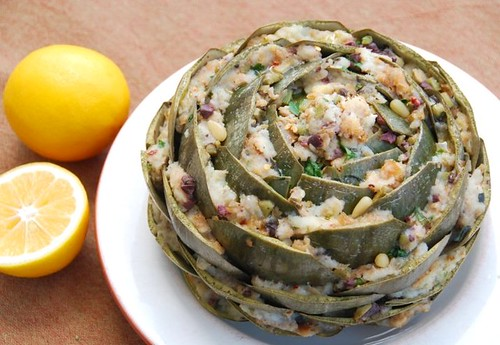 Mom's stuffed artichoke