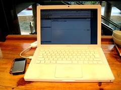 2.4GHz MacBook(MB403J/A) with emobile D02HW