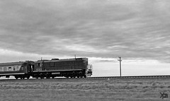old train (AgusValenz) Tags: morning bw white black blanco maana sunshine train tren early negro gray engine amanecer soviet centralasia kazakhstan locomotora eurasia grises temprano   karabatan