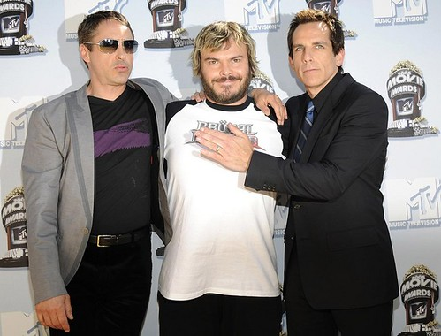 Robert Downey Jr., Jack Black y Ben Stiller 2008