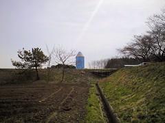 色鉛筆の給水塔