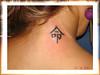 tatuagem kanji no pescoco TARZIA TATTOO -