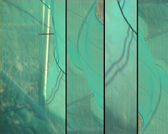 ... (the3robbers) Tags: abstract green fence video waves wind wave fabric ripples the3robbers