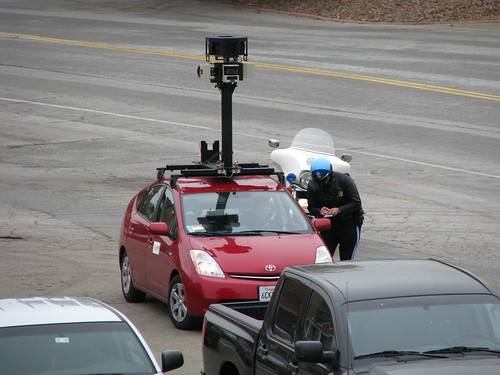 Not sure why the google street view car