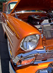Another Old Car (jeff saylor) Tags: orange car canon colorado fortcollins sigma front bumper headlight 1020mm xti 400d