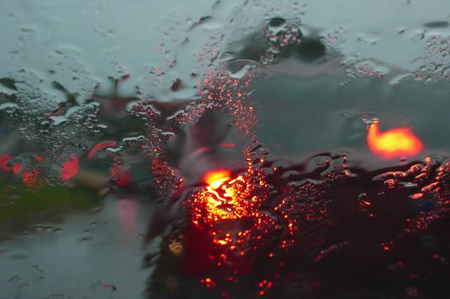 #173 abstract rain