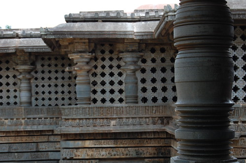 Pillar view of Halebid temple