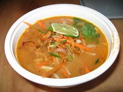 Rickshaw Dumpling Bar: Peanut sate soup