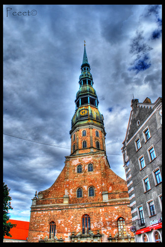 St Peters church in Riga