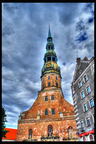 St Peters church in Riga