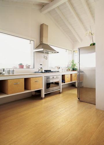 Woven Bamboo Flooring | Honey Color