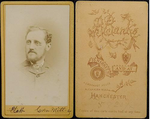 Mr Platt, Corn Miller, Manchester, 1870s