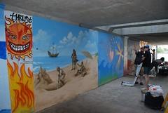 DSC_0805 (Kurt Christensen) Tags: art beach painting mural surf thrust gilgobeach gilgo