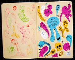 20080715.jpg (Chris Piascik) Tags: elephant moleskine skull cyclops doodle characters monsters dailydrawing chrispiascik