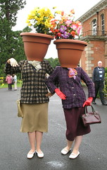 potheads? (jackeeadio) Tags: flowers ireland absurd surreal belfast northernireland ulster flowerpots potheads sirthomasandladydixonpark roseweek thewallfowers