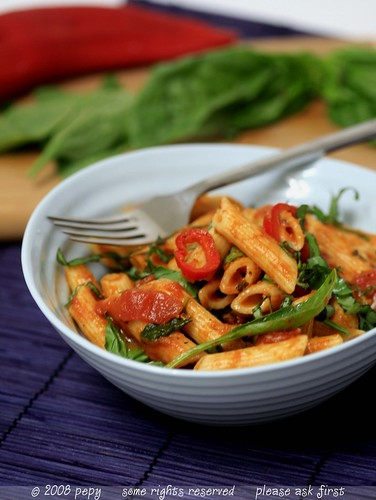 Penne with Vegetable Marinara Sauce 6