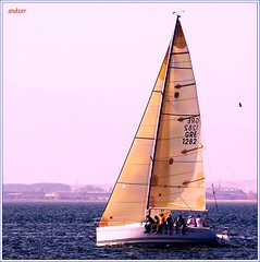 4+1 left.. (andzer) Tags: blue sea summer vacation people holiday hot water sport race fun boat gulf wind yacht joy aegean vessel andreas greece macedonia rig sail thessaloniki mast vacancy myfaves salonica hollidays thermaikos   zervas  andzer   imagescollectors