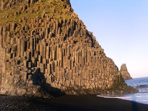 Basaltgestein in Säulenform