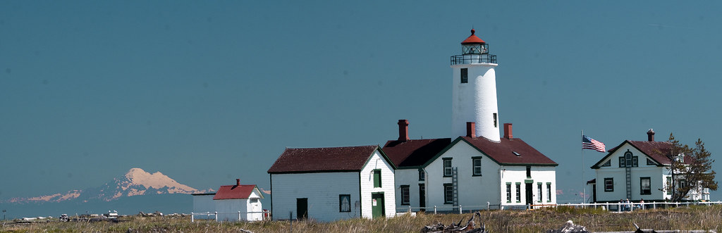 Lighthouse at Dungeness spit, Olympic Peninsula
