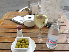 Lovely Olives and wine