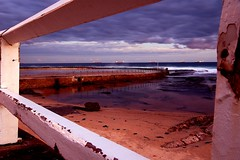 . (Bluemonkey08) Tags: sunset beach newcastle bac d70nikon