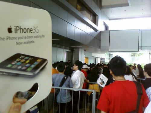 Queue for iPhone3G