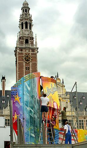 Opbouw Leuven Kermis 1 sep 08